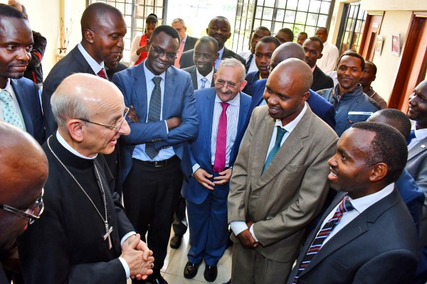 The Father speaks to the management of Eastlands College