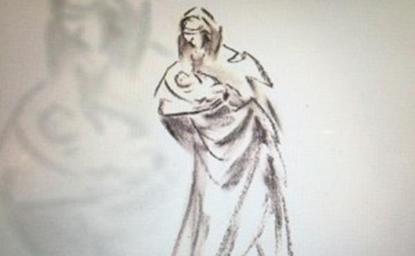 Esboço da Virgem da Esperança