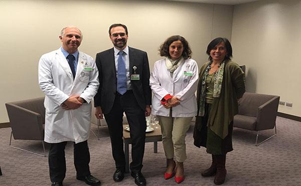 Francisco Sfeir, Alessandro Pernigo, María Luz Endeiza y América Benítez, fueron entrevistados durante el coloquio.
