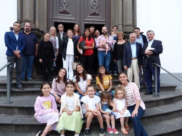 Alguns dos participantes na Cerimónia na Missa de S. Josemaria no Funchal.