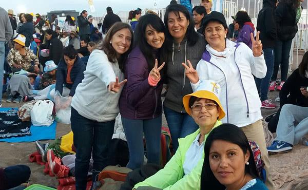 Margarita Enberg vivió con emoción cómo el Papa celebraba las manifestaciones de piedad popular en Iquique.