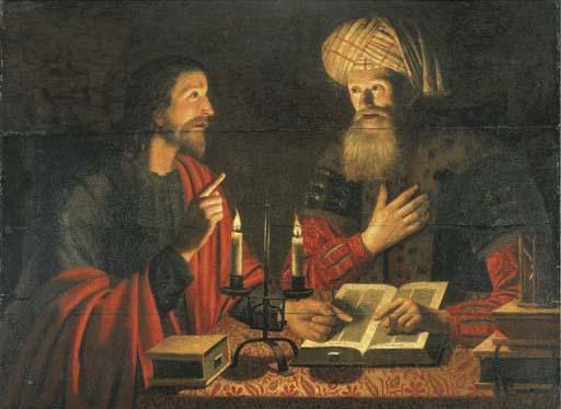 Le Christ parlant avec Nicodème la nuit - Crijn Hendricksz Volmarijn (1616-1645) - Christies
