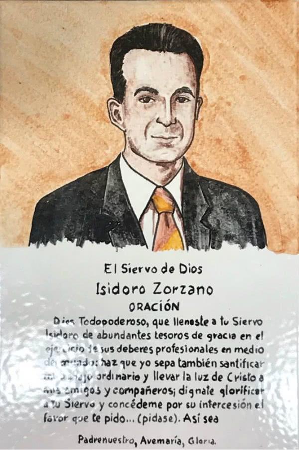 Hemos pensado que le debemos a Isidoro algo mejor y hemos decidido adquirir un azulejo con su imagen y la oración.
