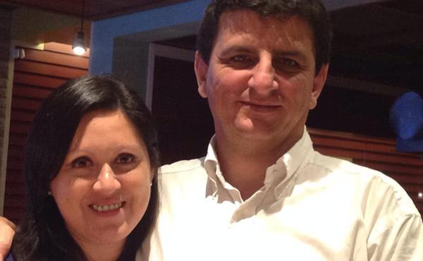 Eduardo Villa Corta, Lalo, y Roxana Salazar, Chana, padres de Francisco.