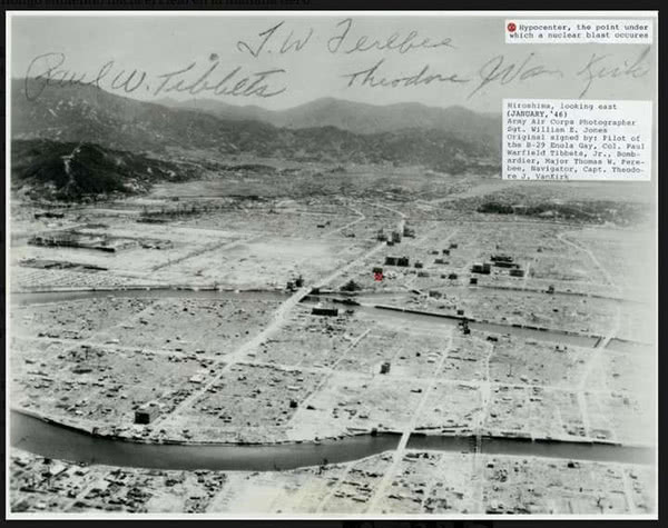 Photo of Hiroshima a year after the atomic bomb was dropped.