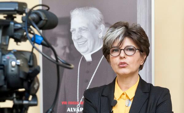 Mara Celani, portavoz de los actos romanos para la beatificación.