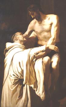 Francisco Ribalta, Le Christ embrassant saint Bernard (1625), Musée du Prado, Madrid.