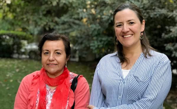 Ana María y María Paz, dos de las organizadoras de las 'Jornadas de brazos abiertos'.