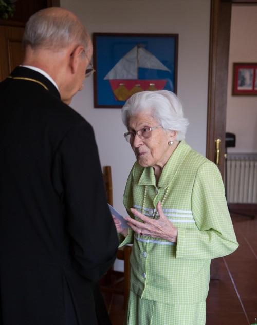 Ester com o atual Prelado, Mons. Fernando Ocáriz