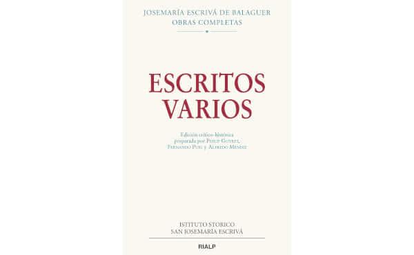Portada de «Escritos varios» (1927-1974).