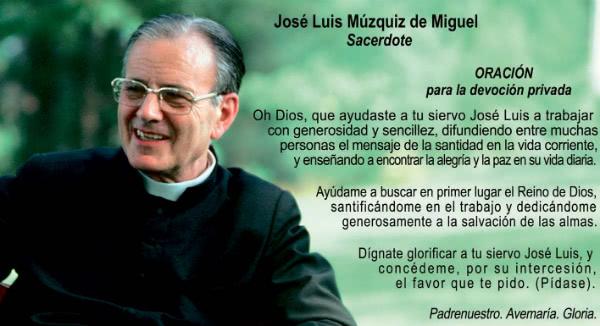 Oración por intercesión de José Luis Múzquiz.