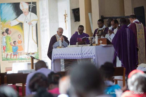Bishop Muheria and Bishop Kimengich were the main celebrants in the Funeral Mass for Bishop Javier Echevarria.