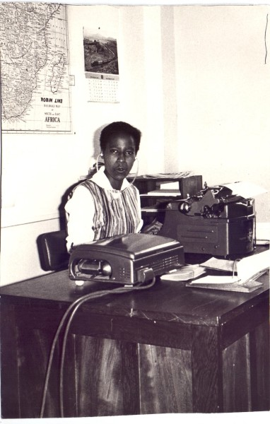 Evelyn Mungai - the 1st Kenyan secretarial student at the school