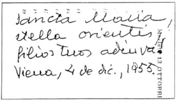 Autograf des hl. Josefmaria