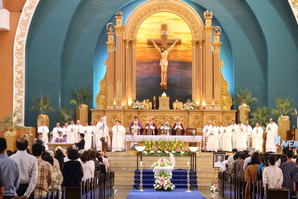 Funeral Mass at St Therese Church (Pasay City) on May 10, 2017