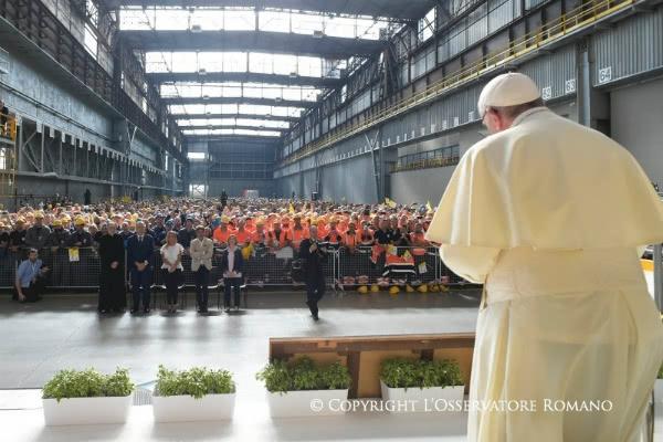 «La empresa es ante todo cooperación, mutua asistencia, reciprocidad». Foto: L´Osservatore Romano.