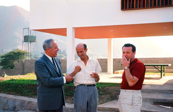 Jorge Velaochaga con Enrique Cipriani y Alejandro Ferreyros en los inicios de Larboleda.