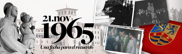 Banner de la página web sobre el aniversario de la imagen de Nuestra Señora del Amor Hermoso que preside la ermita del Campus de la Universidad de Navarra.