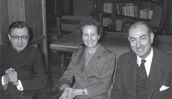 Saint Josemaria with Mariano Navarro Rubio and his wife, María Dolores Serrés, during a visit to Rome in 1958.
