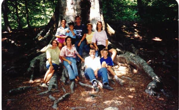 Salvatore y Franca, con sus hijos, en una foto de los años 90