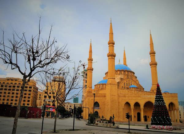 Una mezquita, en Líbano.