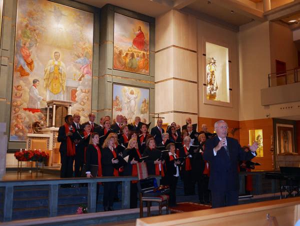 El coro de la parroquia de San Josemaría, estas navidades.