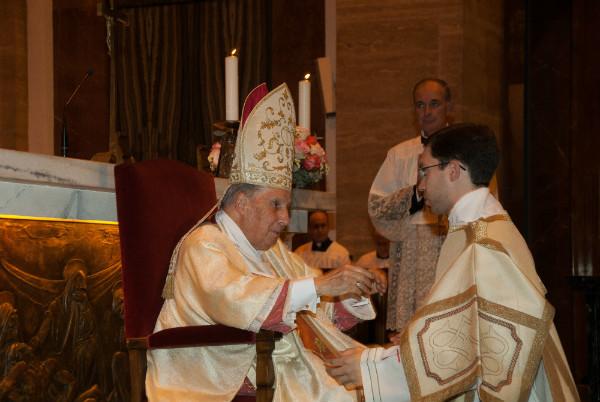 Mauricio Ballesteros con Javier Echeverría, Prelado del Opus Dei