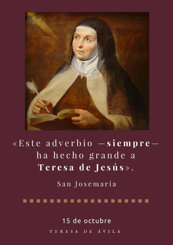 santa teresa de avila y san josemaria escriva de balaguer opus dei santa teresa de avila y san josemaria