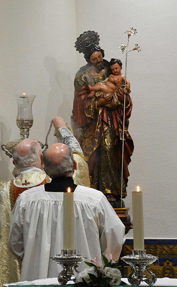 Bendición de la talla de San José.