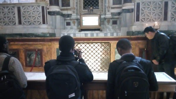 We had a chance to pray at the tomb of St. Paul