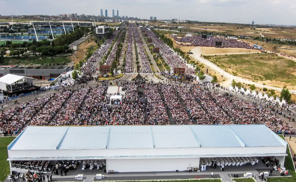 During the beatification ceremony for Alvaro del Portillo.