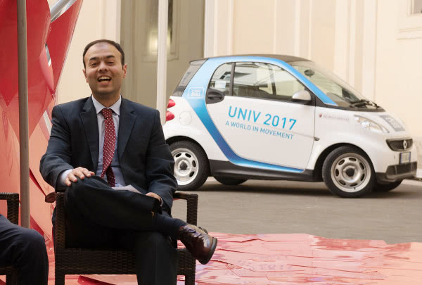 Alain Kiwan, durante el Univ 2017.