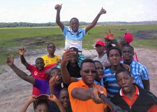 Le selfie collectif des lycéens