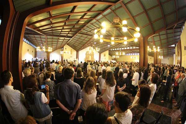 Durante a Missa de ação de graças pelo decreto de virtudes heroicas de Montse Grases no Oratório de Bonaigua, 8/06/2016