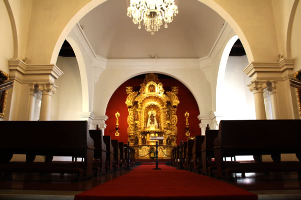Capela do Palácio Arquiepiscopal, onde será a reunião com bispos peruanos