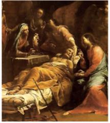 J.-M. Crespi, La mort de saint Joseph (1712, Saint-Pétersbourg)