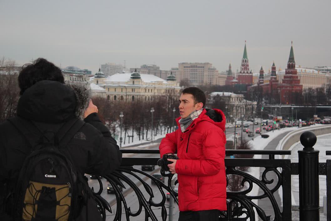 Basta empezar, grabando en Moscú