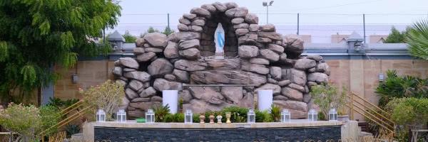 A gruta de Lourdes, em St. May (Dubai). Fotografia cortesia de avosa.org.