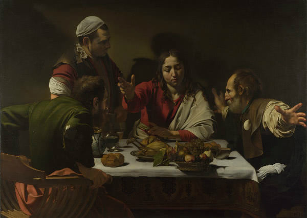 Caravaggio, Supper at Emmaus National Gallery, London.