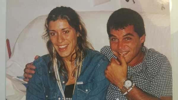 Gabriela con su marido