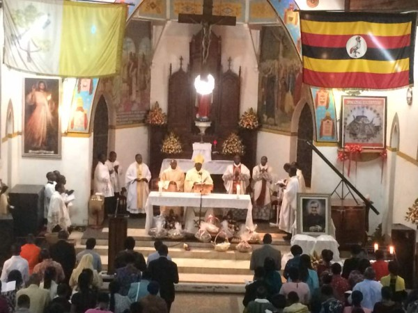 His Grace Archbishop Emmanuel Obbo was the main celebrant in Christ the King Cathedral in Kampala