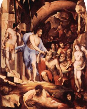 Dominique Beccafumi, Descente du Christ aux Limbes (Sienne, 1535).