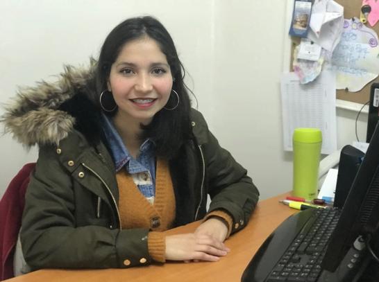 Lucía Díaz, psicóloga del colegio Hellens College, en su despacho.