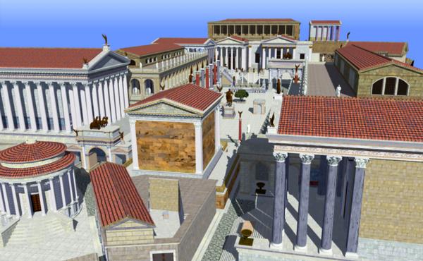 Reconstrução em 3D do Fórum Romano