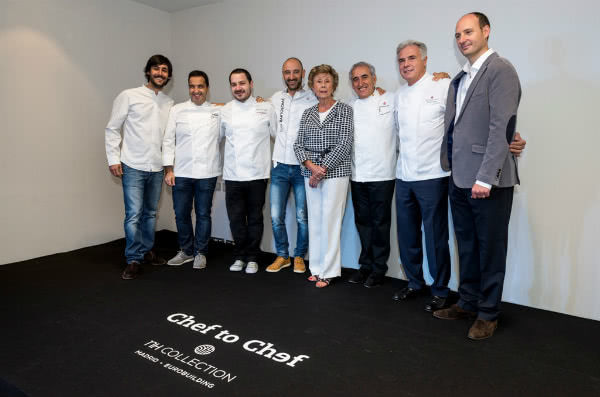 Seis de los nueve chefs involucrados en el proyecto Chef to Chef. Foto: Harambee.