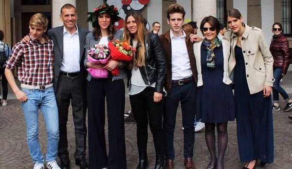 Rodzina Giorgio. Od lewej: Franciszek, Giorgio, Klara, Łucja, Kuba, jego żona Montse i Maria.
