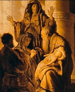 La présentation de Jésus au temple - Rembrandt van Rijn (Hollande, 1628), Hambourg