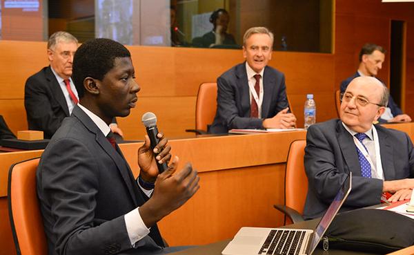 Léonce de l'escola de Costa d'Ivori, IHE-Afrique.