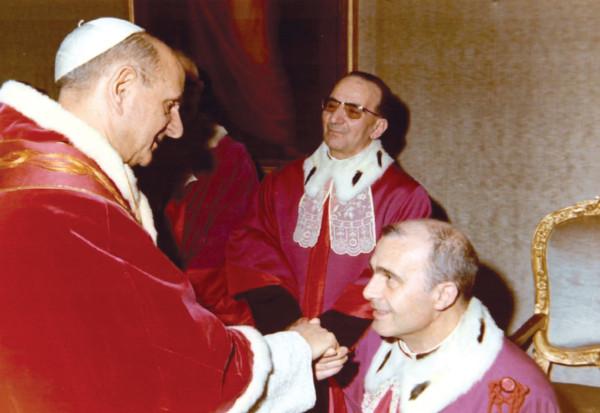 Con san Pablo VI.