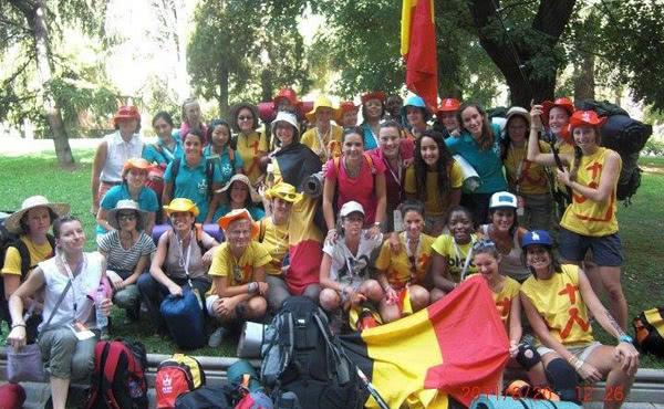 Le groupe du club Fontenelle lors des JMJ à Madrid en 2011
